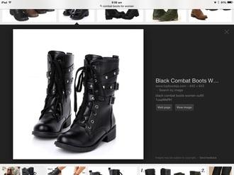 shoes black comabt boot shoe combat boots buckle lace