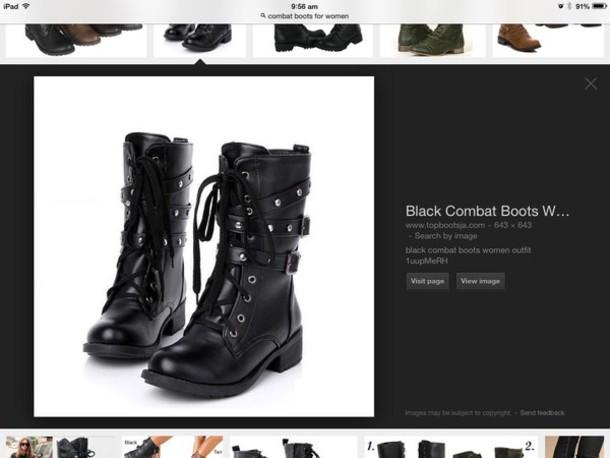 shoes black comabt boot shoes combat boots buckles lace