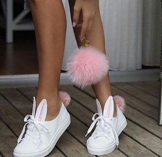 shoes rabbit shoes white shoes converse supreme bunny north face sportswear bunny ears white sneakers sneakers