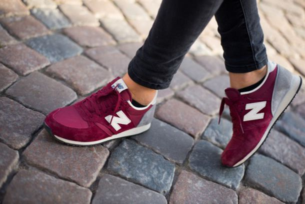 shoes new balance burgundy burgundy wine sneakers red shoes cute girl beautiful new. Black Bedroom Furniture Sets. Home Design Ideas
