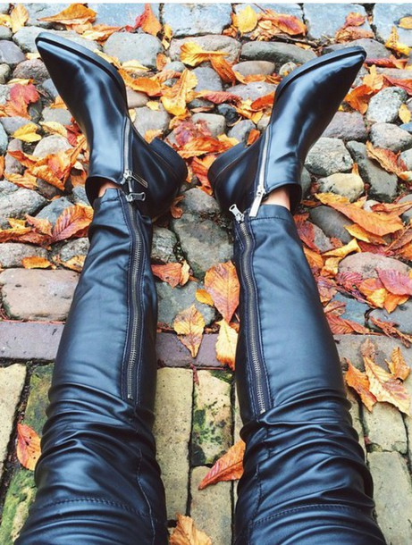 shoes leather black toe flats boots elegant musthave booties
