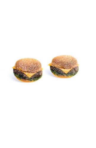 Cheeseburger babe stud earring