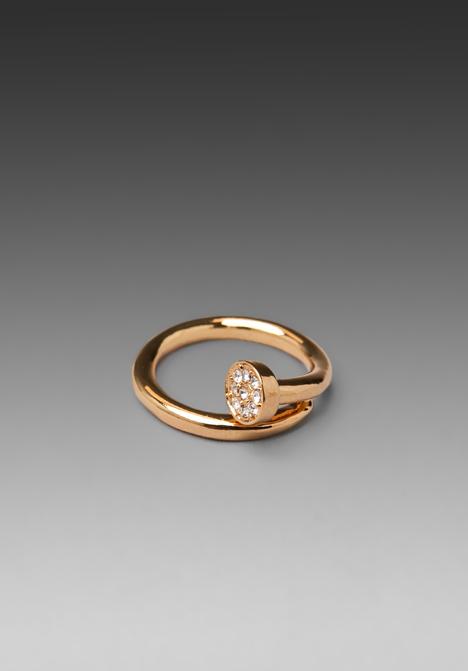 CC SKYE Shwayze Nail Ring in Gold at Revolve Clothing - Free Shipping!