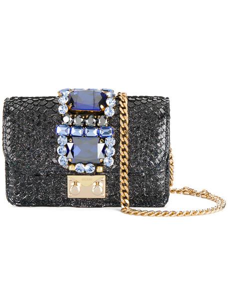 Gedebe mini glitter women bag leather blue