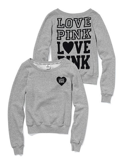 Pink Grey Sweatshirt | Fashion Ql