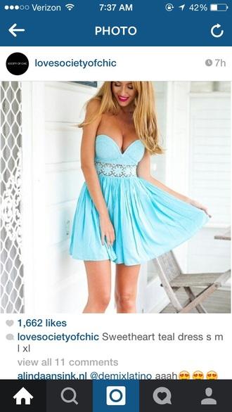 dress teal dress