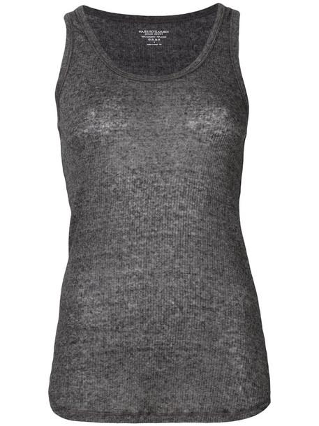 tank top top women classic cotton grey