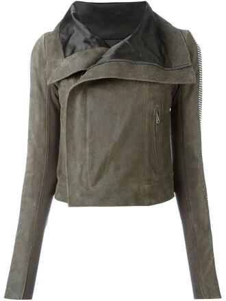 jacket biker jacket grey