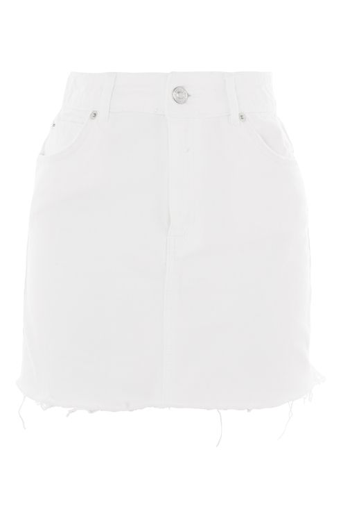 MOTO White Denim Mini Skirt - New In Fashion - New In