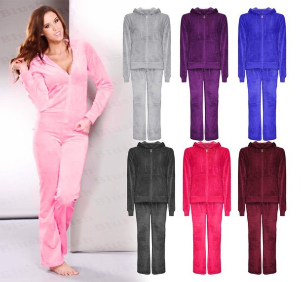 jumpsuit pink grey blue white purple whole set top bottoms hoodie where at ?