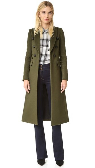coat green army green