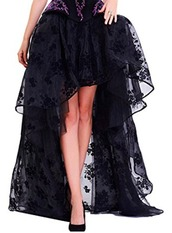 shirt,sheer,lace,skirt,wiccan,witch,victorian,vampire,high low skirt