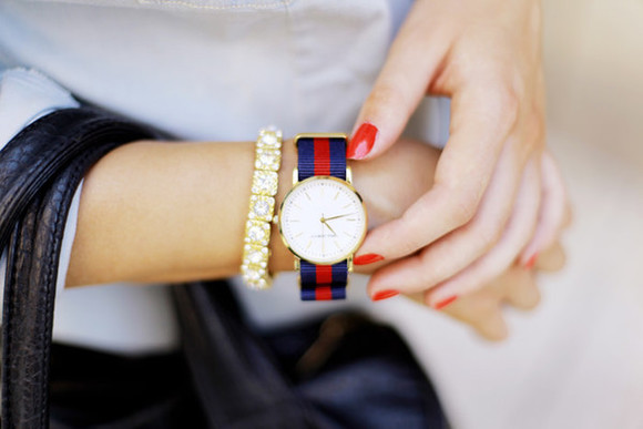 nail polish jewels nails blogger watch flirting with fashion classy bracelets