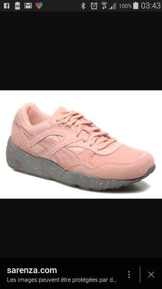 shoes puma sneakers puma rose puma trinomic r698