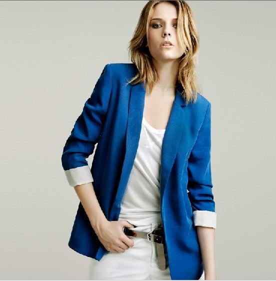 Back fold sleeves blazer suit jacket