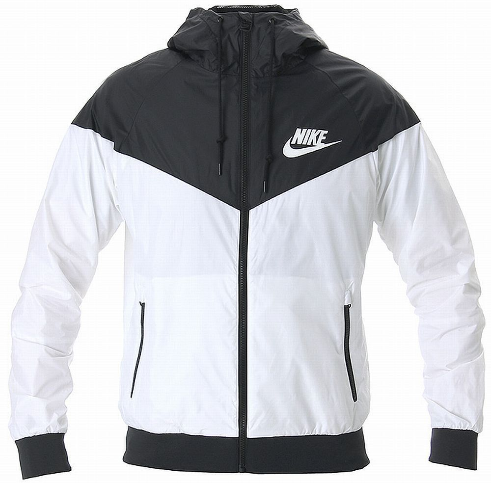 Nike Windrunner Hoody Jacket White Black Windbreaker