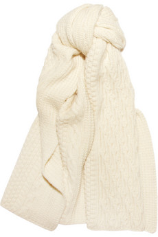 Chunky Aran-knit scarf | Levi's Made & Crafted | THE OUTNET