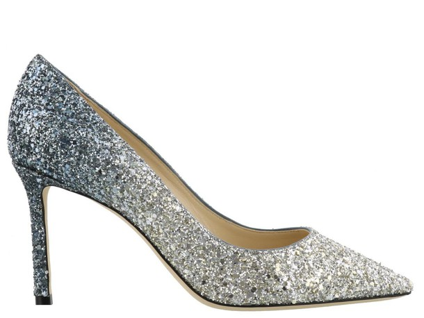 Jimmy Choo silver blue shoes