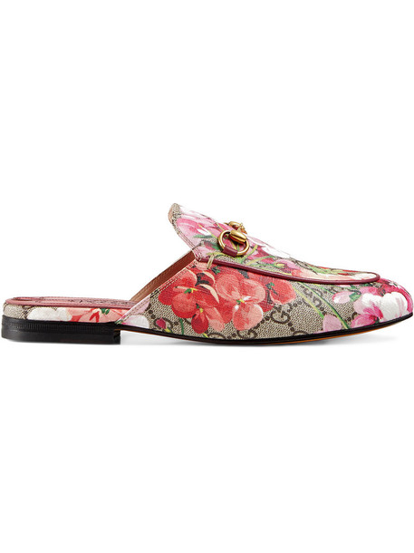 gucci women leather purple pink shoes