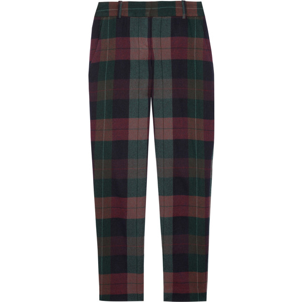 Theory Testra plaid wool pants - Polyvore