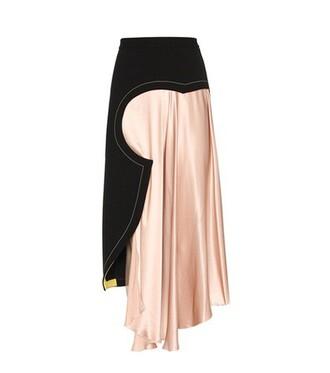 skirt silk satin pink