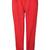 ROMWE | Belt Zippered Slim Sheer Red Pants, The Latest Street Fashion