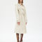 Trench coat in natural plongé lambskin with contrasted lining