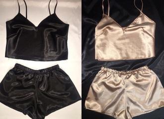 top black gold silk cute instagram tumblr