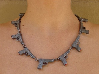 gun necklace jewels