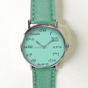 jewels,watch,handmade,style,fashion,vintage,etsy,freeforme,summer,spring,gift ideas,new,love,hot,trendy,math,number,equation,formula,teal