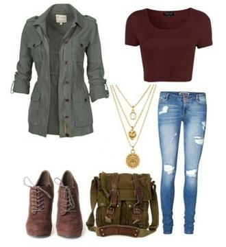 coat jacket high heel boots jeans burgundy top shoes bag