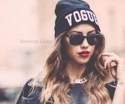 Vogue black beanie hat · nouveau craze · online store powered by storenvy
