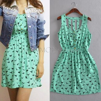 dress summer dress mint dress green dress mini dress