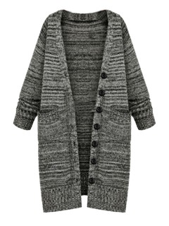 Style longline button front cardigans