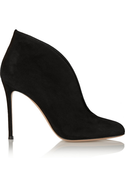 Gianvito Rossi suede ankle boots 100 boots ankle boots suede black shoes