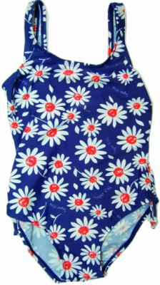 Daisy Print Swimsuit - Navy/White/Orange - Ruby & Ted - Delightful things for girls & boys from newborn to 10yrs