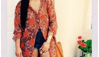 shirt long button up blouse