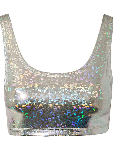 Holographic Top - Estradeur - Silver - Tops - Clothing - Women - Nelly.com Uk