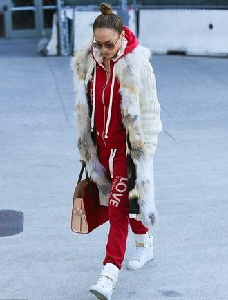 sweatpants sweatshirt jennifer lopez hoodie