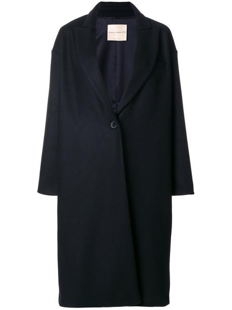 coat long coat long women blue wool