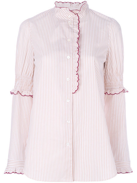 See By Chloé See By Chloé - scallop embroidered blouse - women - Cotton - 36, Nude/Neutrals, Cotton