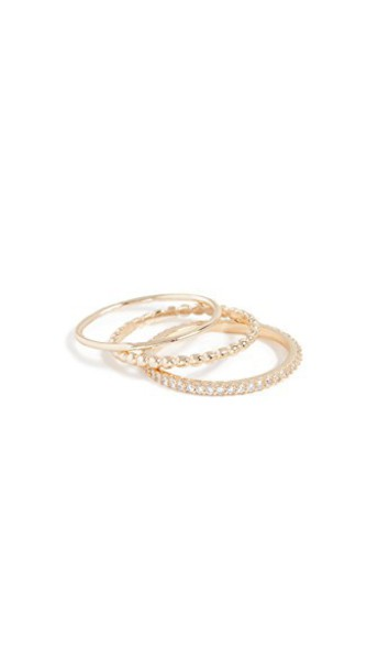 SHASHI ring gold yellow jewels