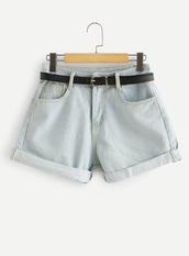shorts,girly,denim,denim shorts,rolled up shorts