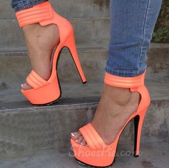 shoes neon summer orange pink cute vogue chanel sneakers heels high heels platform shoes boho bohemian art vintage