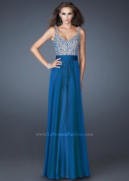 dress blue prom dress prom dress long dress long prom dress la femme prom dresses la femme