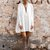 Cleopatra Cape Dress - White