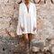 Cleopatra cape dress - white