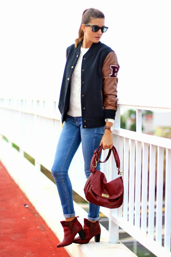 marilyn's closet blog blogger jacket jeans bag jewels sunglasses teddy boots