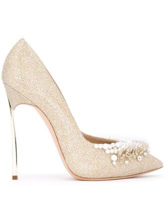 embellished pumps metallic shoes