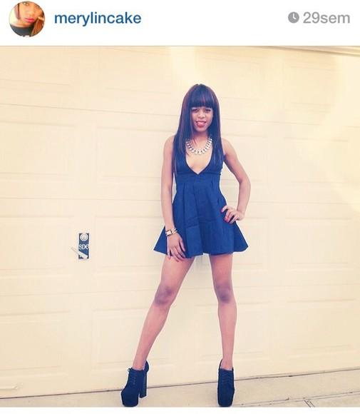 pastel dress blue dress black dresses girly glamf instagram fashion